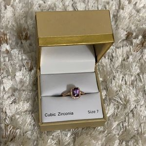 Charter club amethyst ring